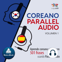 Coreano Parallel Audio – Aprende coreano rápido con 501 frases usando Parallel Audio - Volumen 1