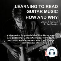 Learning To Read Guitar Music How and Why