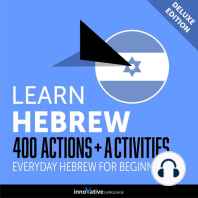 Everyday Hebrew for Beginners - 400 Actions & Activities