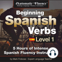 Automatic Fluency® Beginning Spanish Verbs Level I