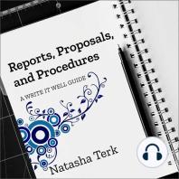 Reports, Proposals, and Procedures