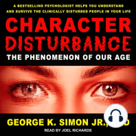 Character Disturbance: The Phenomenon of Our Age