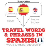 Travel words and phrases in Spanish
