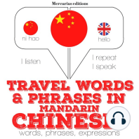 Travel words and phrases in Mandarin Chinese