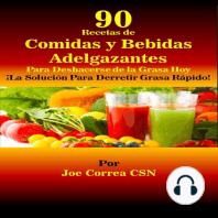 90 Recetas de Comidas y Bebidas Adelgazantes Para Deshacerse de la Grasa Hoy