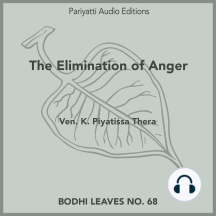 The Elimination of Anger: with two stories retold from the Buddhist texts