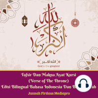 Tafsir Dan Makna Ayat Kursi (Verse of The Throne) Edisi Bilingual Bahasa Indonesia Dan Bahasa Arab