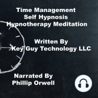 Time Management Self Hypnosis Hypnotherapy Meditation