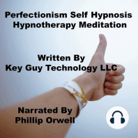 Perfectionism Self Hypnosis Hypnotherapy Meditation