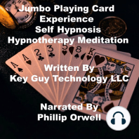 Jumbo Playing Card Experience Self Hypnosis Hypnotherapy Meditation