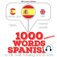 1000 essential words in Spanish