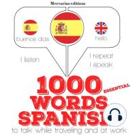 1000 essential words in Spanish