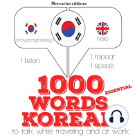 1000 essential words in Korean