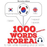 1000 essential words in Korean