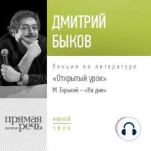Лекция Открытый урок М. Горький – «На дне»