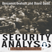 Security Analysis: Principles and Techniques: The Classic 1940 Second Edition