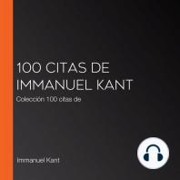 100 citas de Immanuel Kant