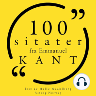 100 sitater fra Immanuel Kant