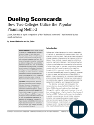 Dueling Scorecards