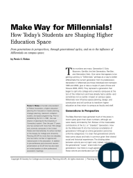 Make Way for Millennials!