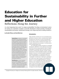 Education for Sustainability in Further