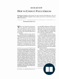 How to Conduct Focus Groups
