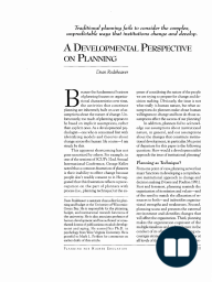 A Developmental Perspective on Planning
