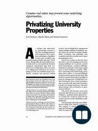 Privatizing University Properties