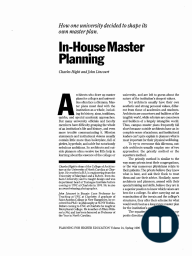 In-House Master Planning