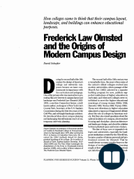 Frederick Law Olmsted and the Origins of Modern Campus Design