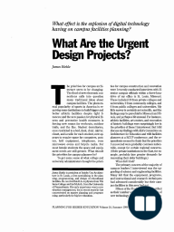 What Are the Urgent Design Projects?