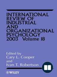 International Review of Industrial and Organizational Psychology 2003