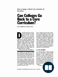 Can Colleges Go Back to a Core Curriculum?