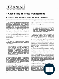 A Case Study in Issues Management