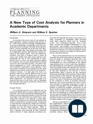 A New Type of Cost Analysis for Planners in Academic Departments
