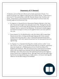 1st Samuel Summary