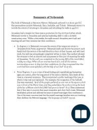 Nehemiah Summary