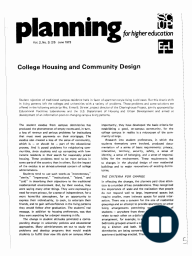 College Housing and Community Design