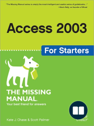 Access 2003 for Starters