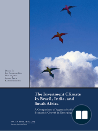 The Investment Climate in Brazil, India, and South Africa