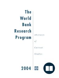 The World Bank Research Program 2004