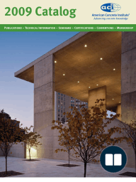 ACI 2009 Products and Services Catalog