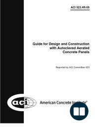 ACI 523.4R-09 Guide for Design and Construction with Autoclaved Aerated Concrete Panels