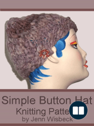 Simple Button Hat Knitting Pattern