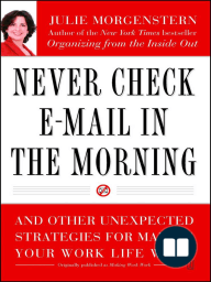 Never Check E-Mail In the Morning