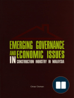 Emerging Governance and Economic Issues in Construction Industry in Malaysia