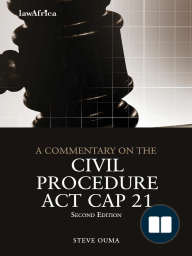 A Commentary on the Civil Procedure Act