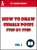 How to Draw Female Poses Step by Step. Vol.1