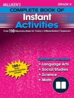 Milliken's Complete Book of Instant Activities - Grade K
