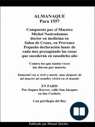 Almanaque para 1557 de Nostradamus